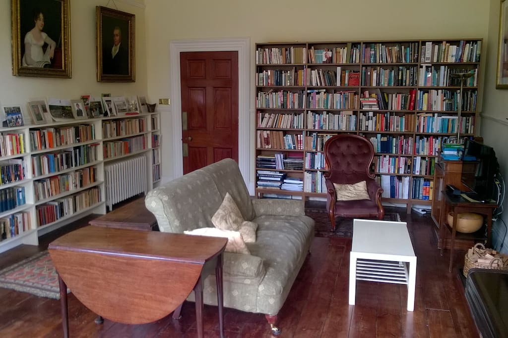 Large, comfortable sitting room (8m x 5m) with high ceilings (and with TV and XBox), giving out through French windows on to the garden.