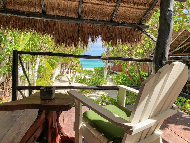 ❤️ Relaxing Beach Front Cabin - Cabañita ❤️