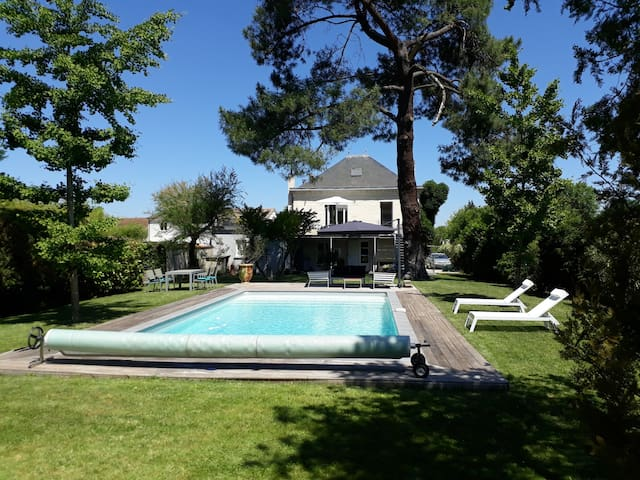 Character property with heated pool