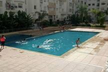 Luxueux appart vue directe sur piscine