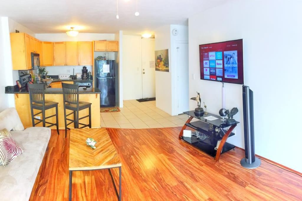 The apartment is actually much spacious than its appears  in the the photos