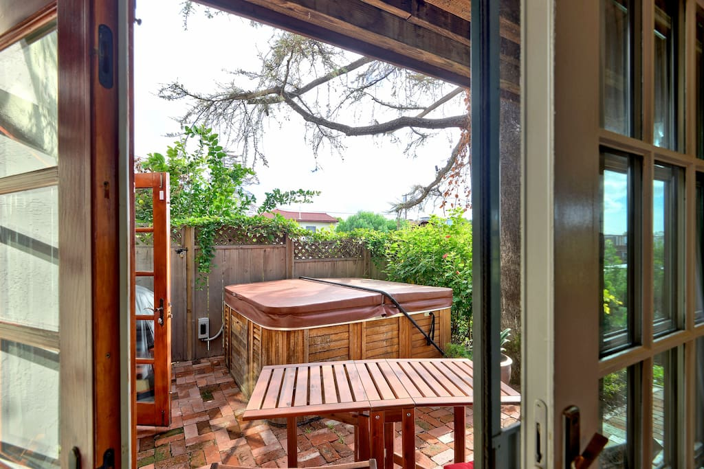 Patio access from the bedroom