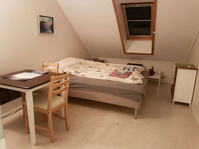 Private, separated room in town. Garage included - Alesund - Apartamento