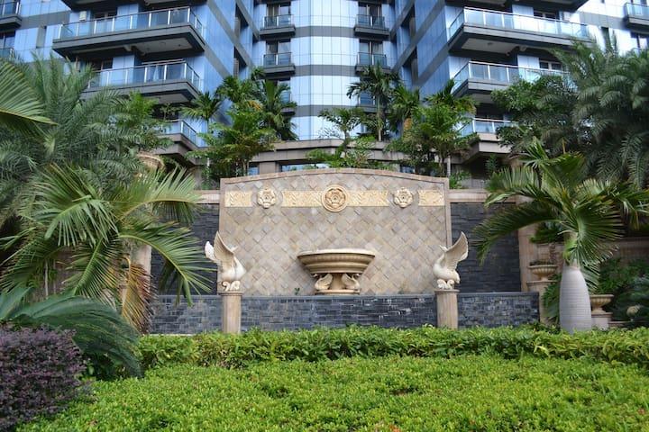 海口世纪大桥海口威斯汀酒店旁,边上被三个公园包围的海口外滩中心公寓,一室一厅,非常适合度假生活 - 海口市