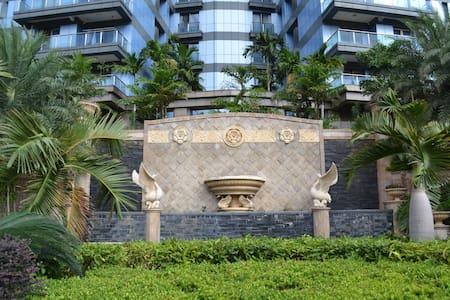 海口世纪大桥海口威斯汀酒店旁,边上被三个公园包围的海口外滩中心公寓,一室一厅,非常适合度假生活 - 海口市 - Lejlighed