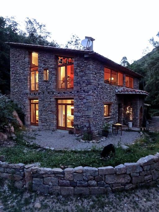 house at nightfall