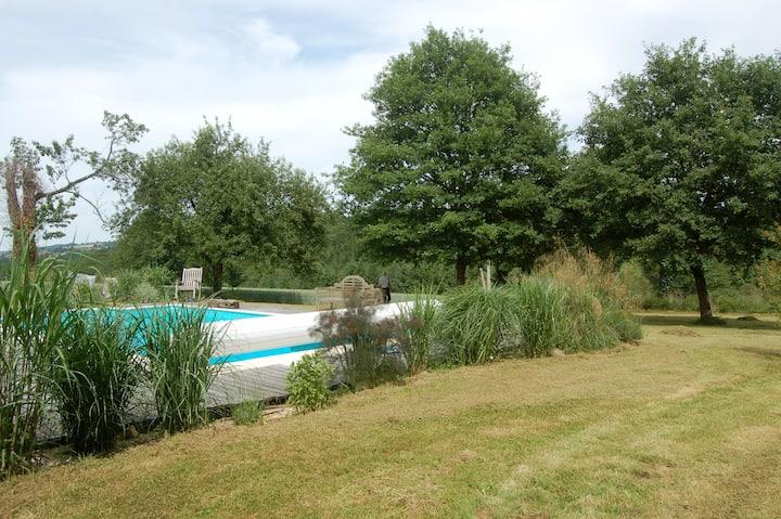 Beautiful farmhouse & barn with gardens and pool