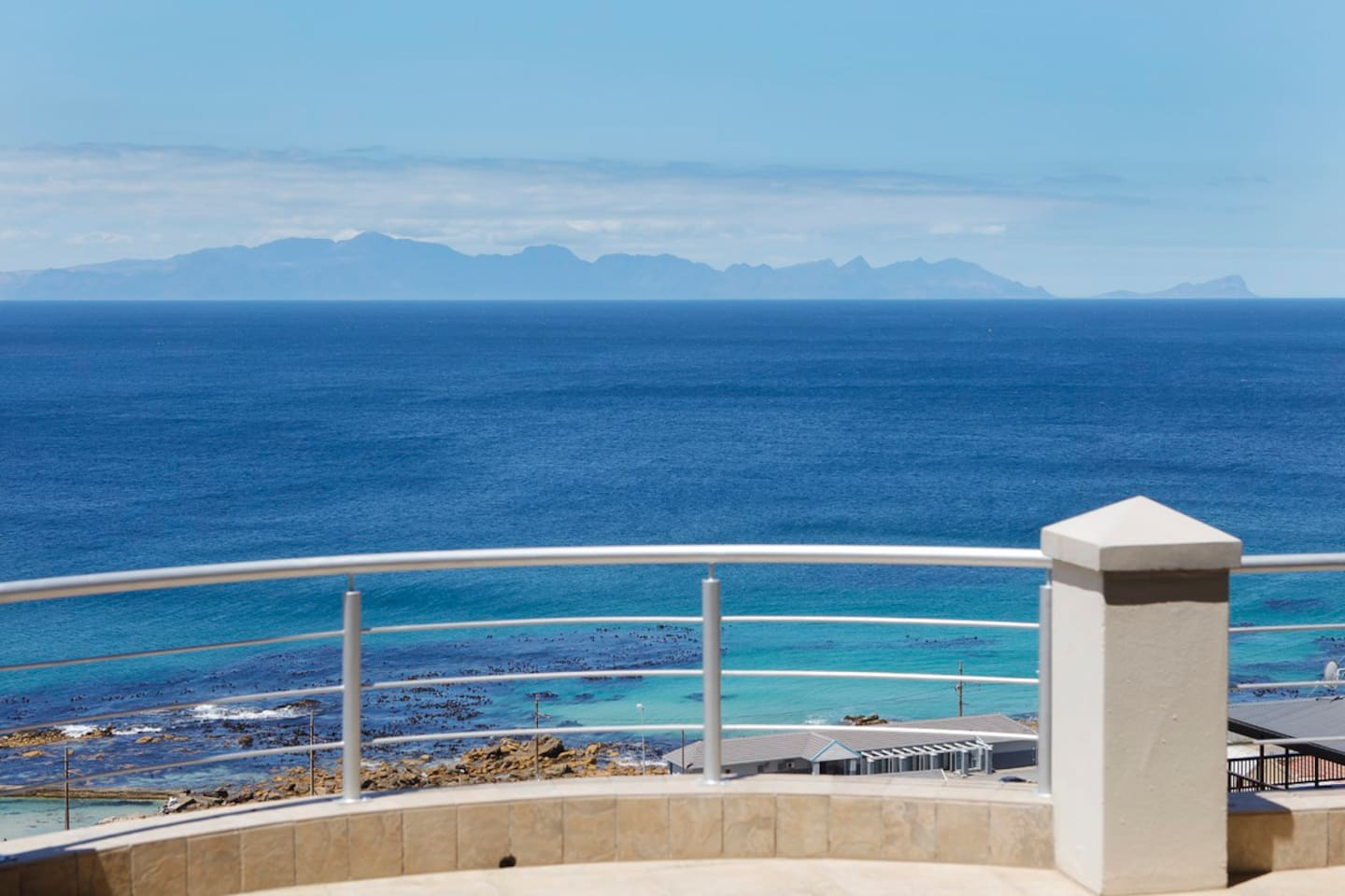 View over False bay from lower level.