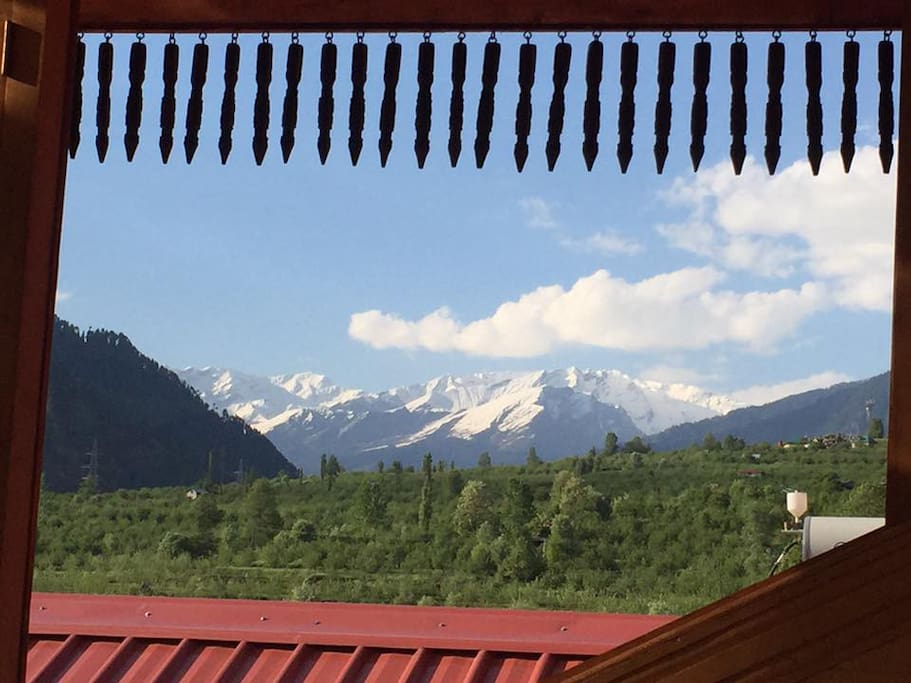 View of Dhauladhar Mountains from ShivAdya