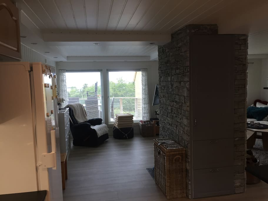 Stue fra kjøkken (55 m2)