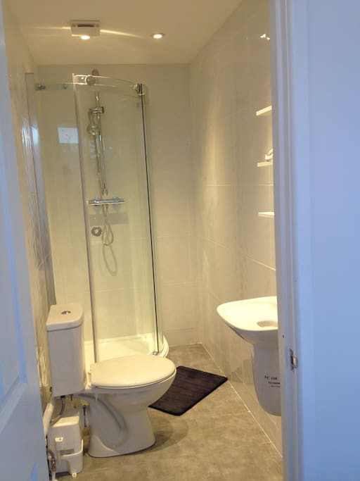 shower room with toilet