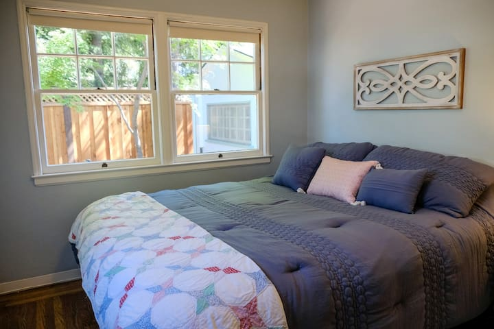 King bed in front bedroom