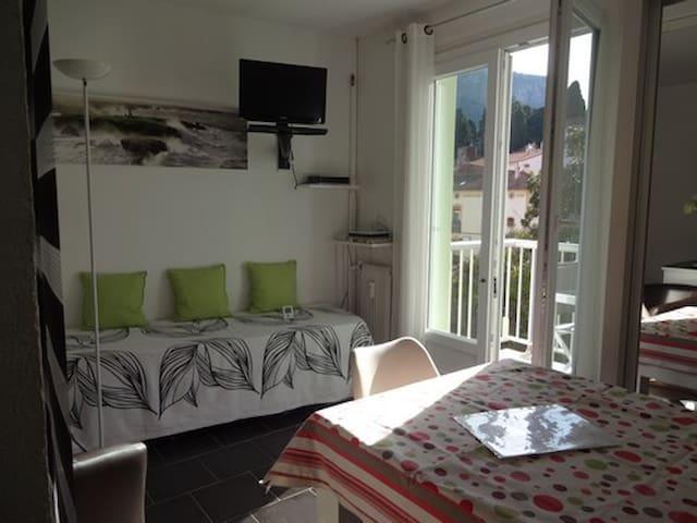 Studio tout confort, plein sud,idéal cure thermale - Amélie-les-Bains-Palalda - Condominio