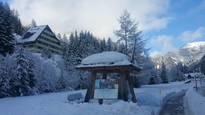 Apartment in skiing & nature site, for 5 persons