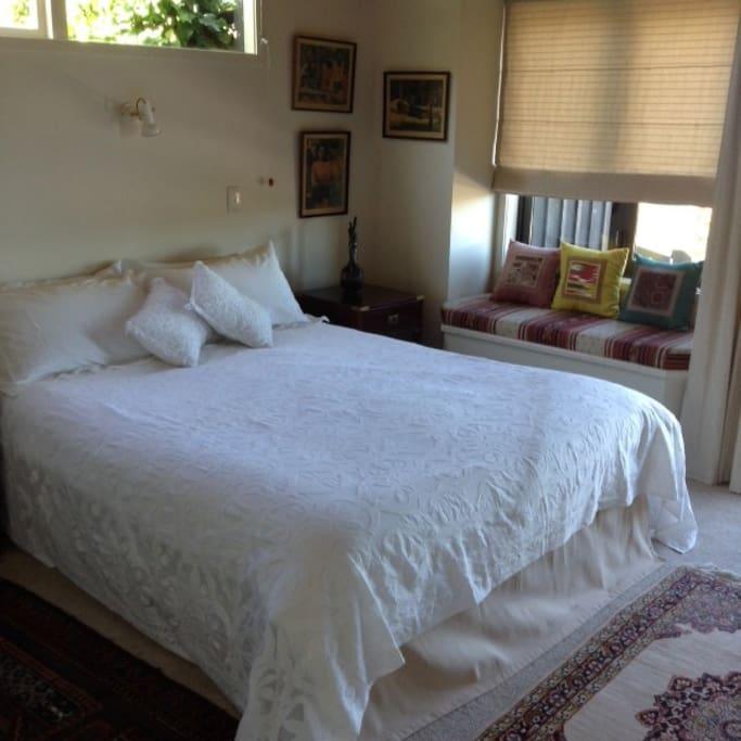 Queen bedroom in house