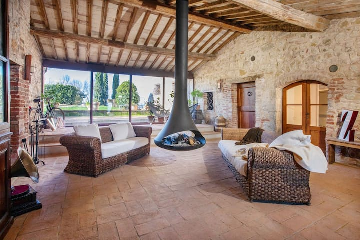 Villa between Florence and Siena - Spa,Gym,Pool