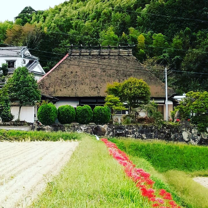 明治元年築150年の日本の古民家と金色の幻モール温泉でゆっくりと湯治グリーンツーリズムの旅