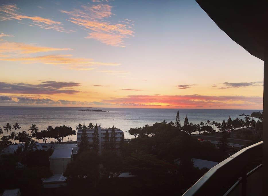 Sunset de la terrasse...