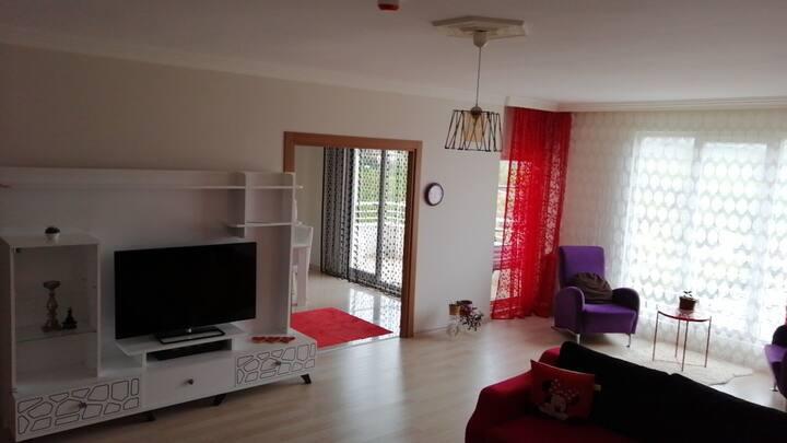 Trabzon Kaşüstü Yomra kırmızı lüks kiralık daire