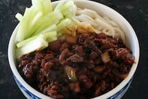 Traditional Chinese noodles (Xiao mian).