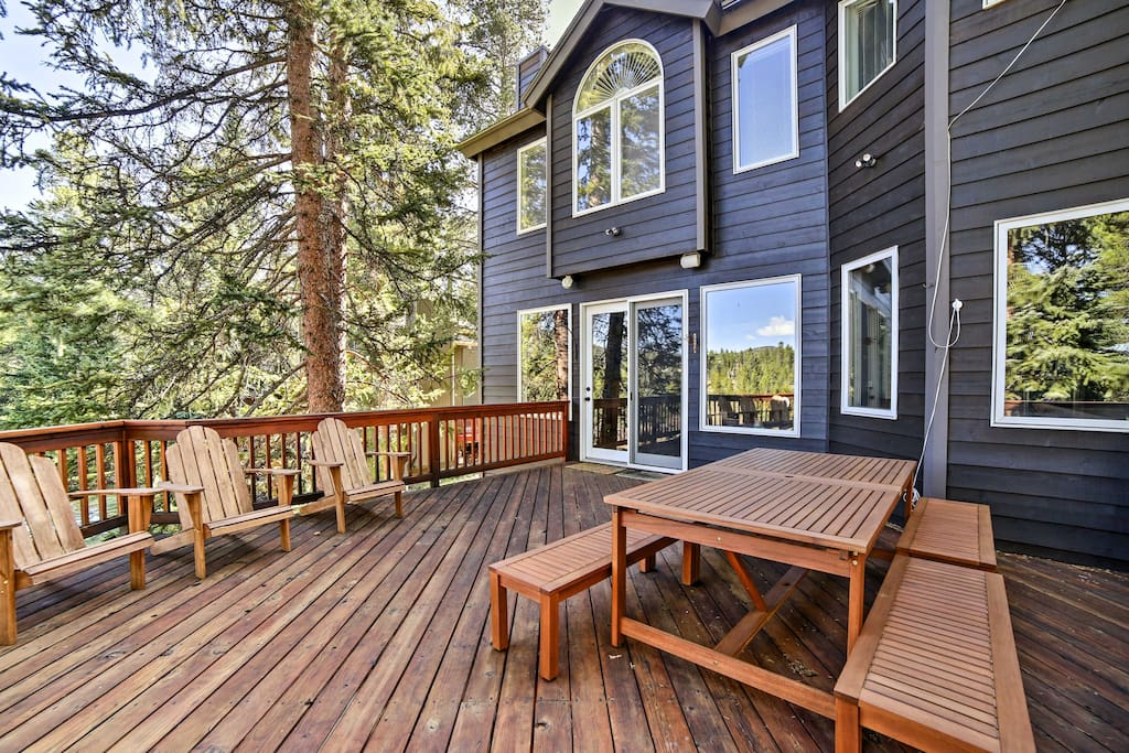 You'll love spending time on the homes expansive deck.