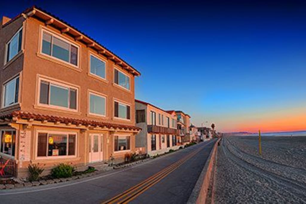 View from the Beach. San Diego Beach Vacation Rental