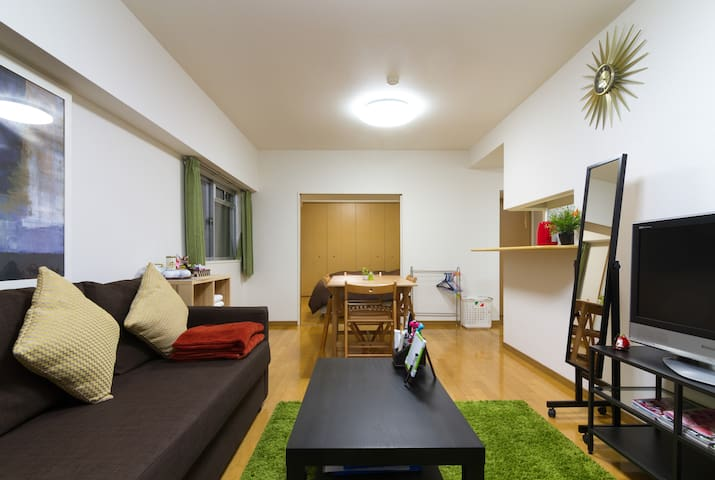 3mins Walk to St. Clean, Spacious. Center of OSAKA - Osaka-shi - Apto. en complejo residencial