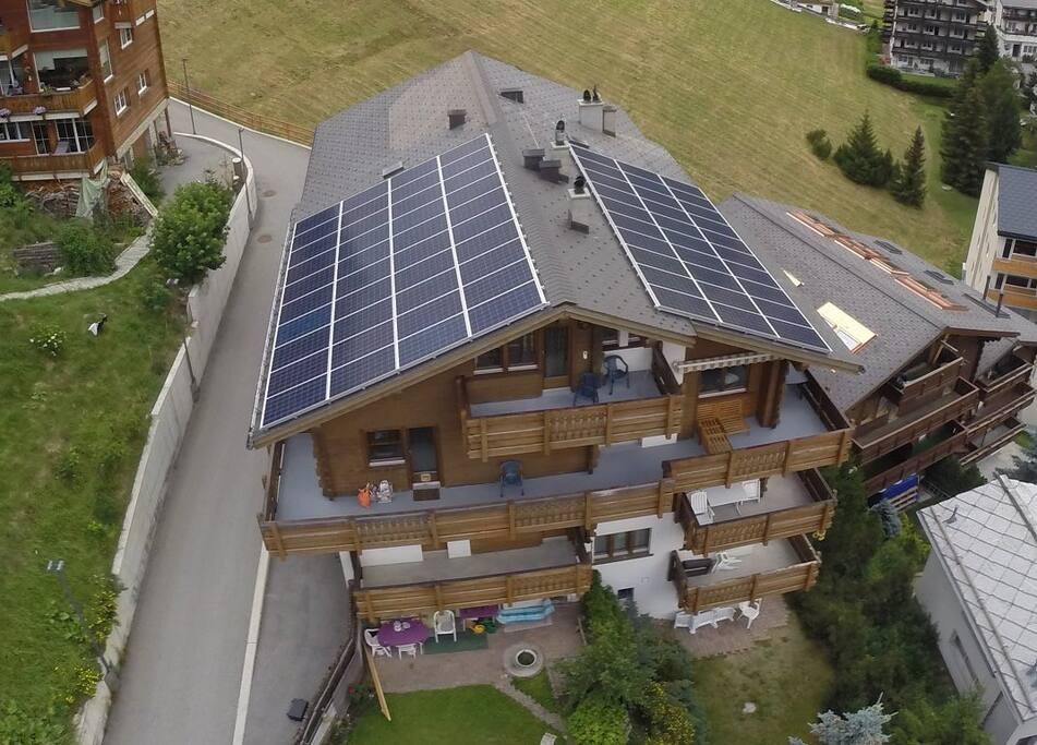 Unser Dach produziert Energie seit August 2016