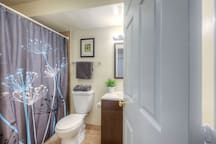 We keep our bathrooms immaculate and do a deep clean between each stay.