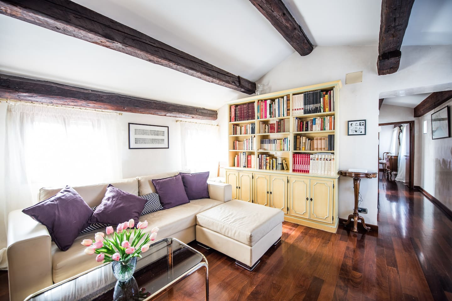 The Living room - The sofa & The bookcase