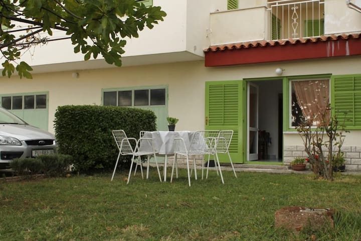 Studio flat with terrace and sea view Labin (AS-7468-a)