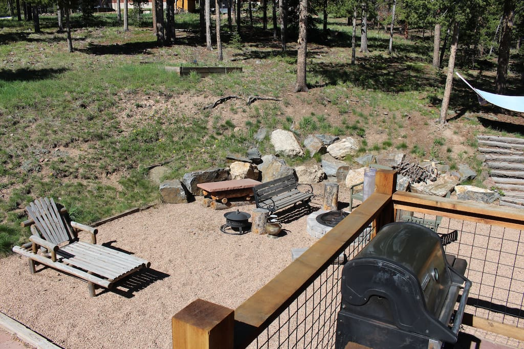 Gas and Wood fire pit available