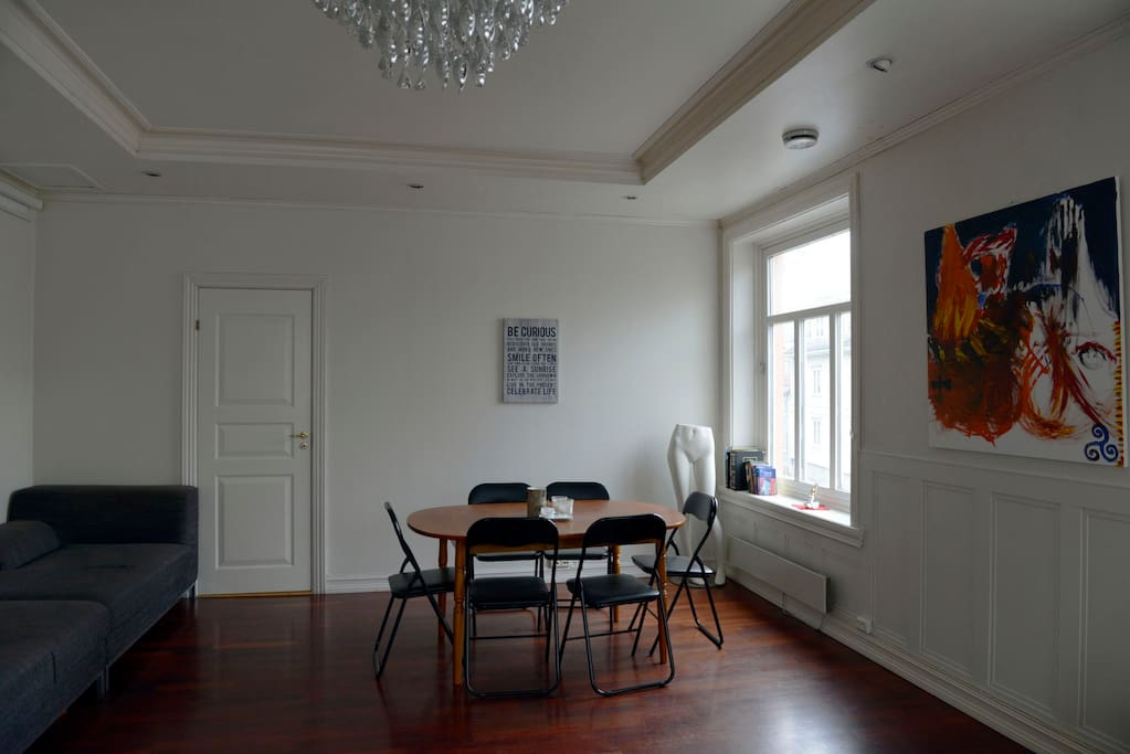Dining area at the other side of the living room