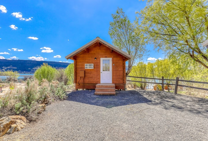 Enjoy fun in the sun at this dog-friendly, dry cabin - just steps from the lake!