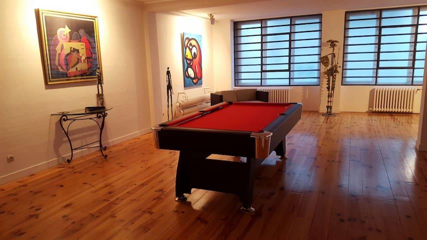2 ch. privées dans loft de 300 m2