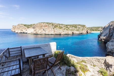 House on a cliff, frontline with amazing seaview - Cala en Porter