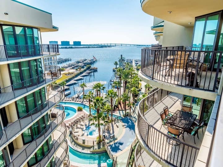 Two Bedroom Orange Beach Condo Featuring Views of Terry Cove, Robinson Island and the Orange Beach Pass!