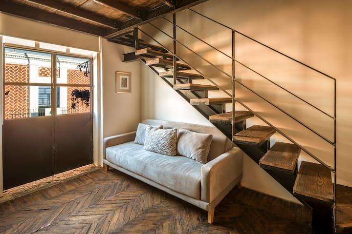 ✰ 2 pisos tapanco+balcón privado en el ❤ de puebla