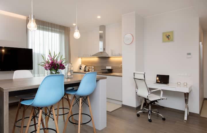 5B, Smart serviced 1-bdrm  suite, Roterm
