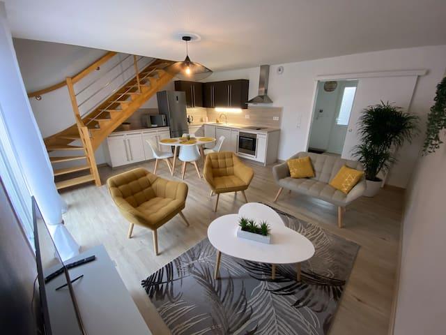 appartement maison en duplex 80m² jardin terrasse