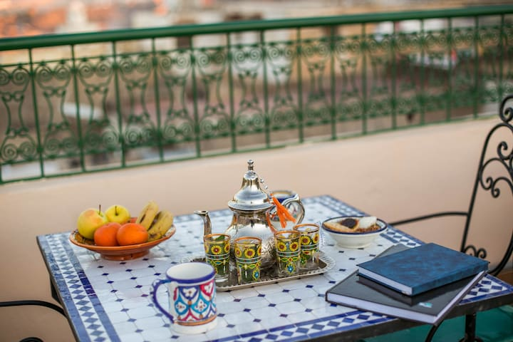 Budget Double Room in Traditional Riad in Meknes