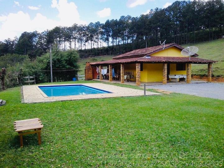 Casa de campo em cidade turística Joanopolis