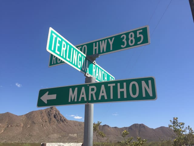 Point of reference:  This is where you turn once you travel 13 miles on Terlingua Ranch Road.  Turn left and travel 1.5 on dirt road (maintained) to Tin Valley.