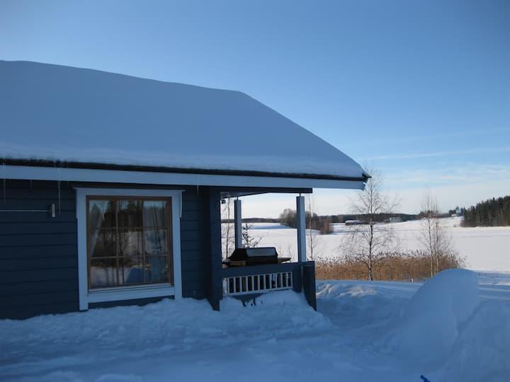 Cosy villa by a lake with air con, Jämsä, Himos