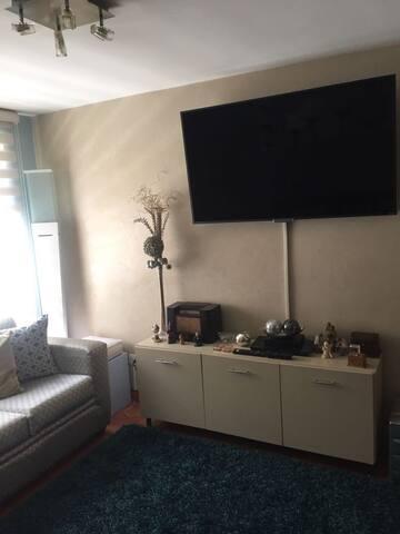 Sala con televisión area familiar.