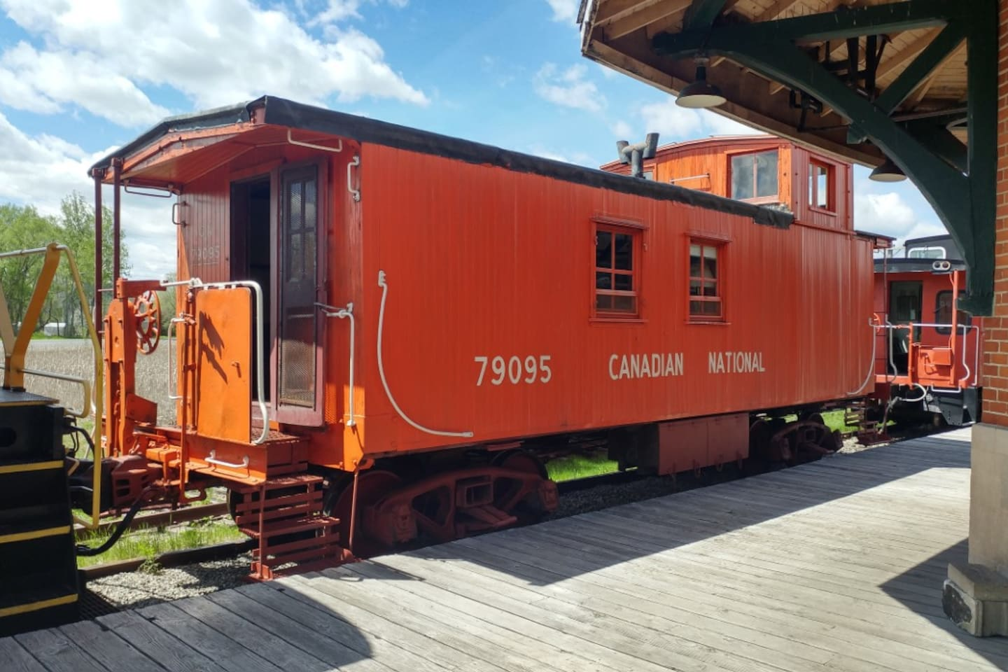 Exterior of our CN 1947 wooden caboose.