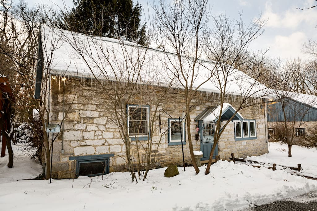 Front of Cottage in winter