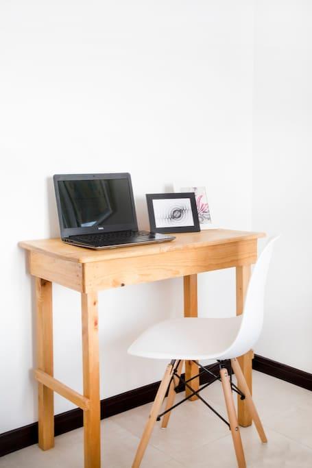 Working space inside bedroom