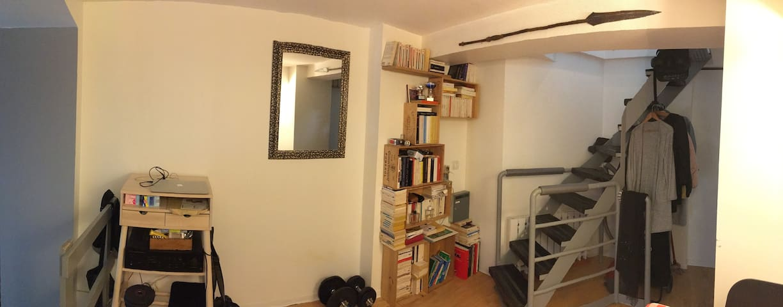 Appartement atypique, 4 couchages, Ménilmontant.