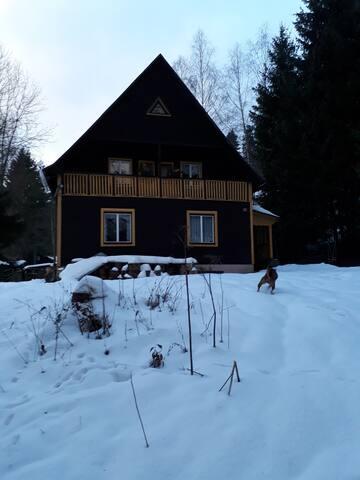 Prázdninový dům s krbovými kamny